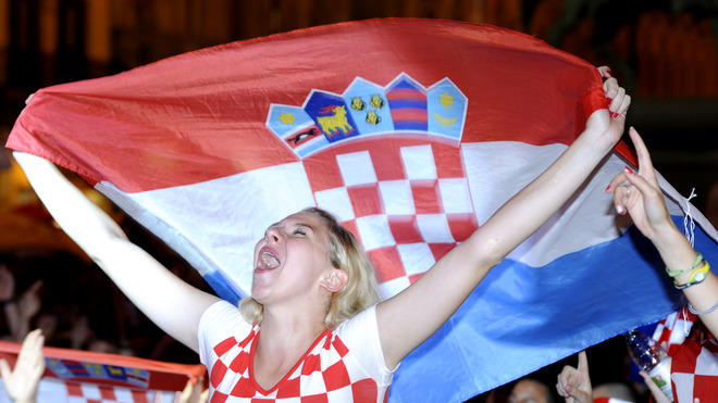 A Croatian Football Fan Reacts AFP/Getty Images