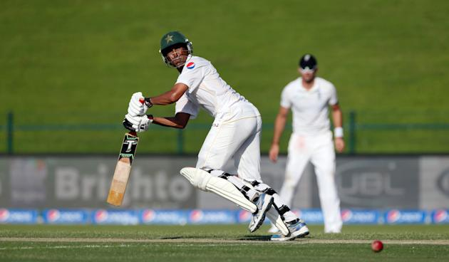 Pakistan's Younis Khan in action