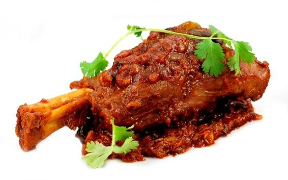 Curried leg of lamb