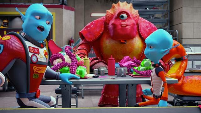 'Escape From Planet Earth' Clip: Food Fight