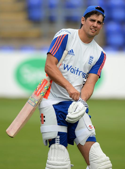 CRIC: England's Alastair Cook during nets