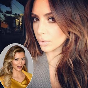 Kim Kardashian Goes Back to Brunette: See the New Brown Hair Color!