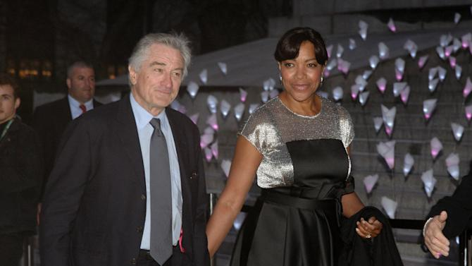 Actor Robert DeNiro, left, and his wife Grace Hightower, attend the Vanity Fair Tribeca Film Festival Party, on Tuesday, April 9, 2013, in New York. (Photo by Andy Kropa/Invision/AP)