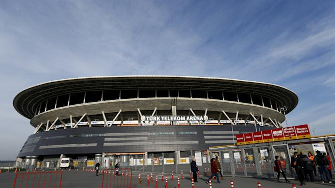 Turk Telekom Arena, home ground of Turkish soccer team Galatasaray, is pictured in Istanbul