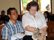 Briton Lindsay Sandiford (R) attends her trial at a Denpasar court on the Indonesian resort island of Bali on January 22, 2013. An Indonesian court on Tuesday sentenced the 56-year-old grandmother to death for smuggling cocaine into Bali