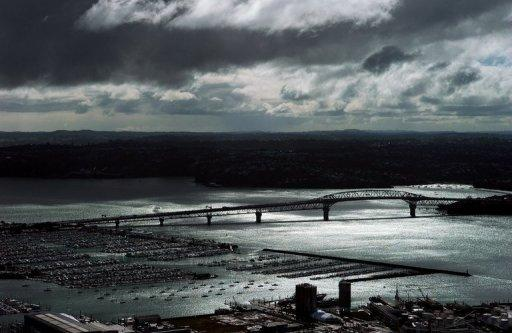 File photo of storm clouds over Auckland. A freak storm described as a tornado by onlookers hit New Zealand's largest city Auckland on Thursday, with reports that at least three people were killed in ferocious winds.