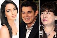 Sarah Lahbati (GMA Network) Richard Gutierrez and Annabelle Rama (NPPA Images)
