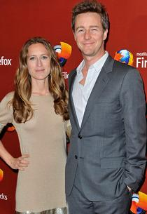 Shauna Robertson and Edward Norton | Photo Credits: Gareth Cattermole/Getty Images