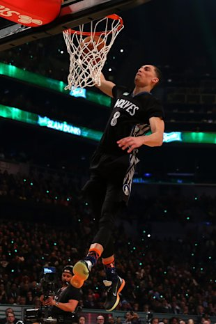 Zach LaVine is an overwhelming favorite to repeat as champion. (Photo by Elsa/Getty Images)