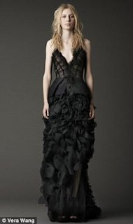 vera wang black wedding gown