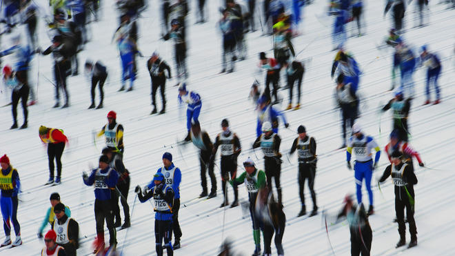 Some Of The 15.800 Skiers AFP/Getty Images