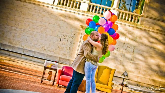Man Pops the Question with Disney Pixars Up Themed Proposal