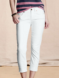 Women's White Slim Leg Jeans