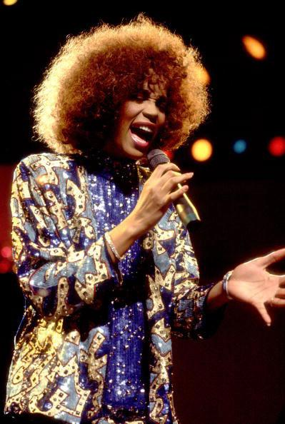 Whitney Houston performing on 8/30/86 in Chicago, Il. (Photo by Paul Natkin/WireImage)