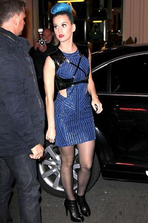 Katy Perry Dazzles in Skin-Revealing Mini, Rocks Crimped Hair
