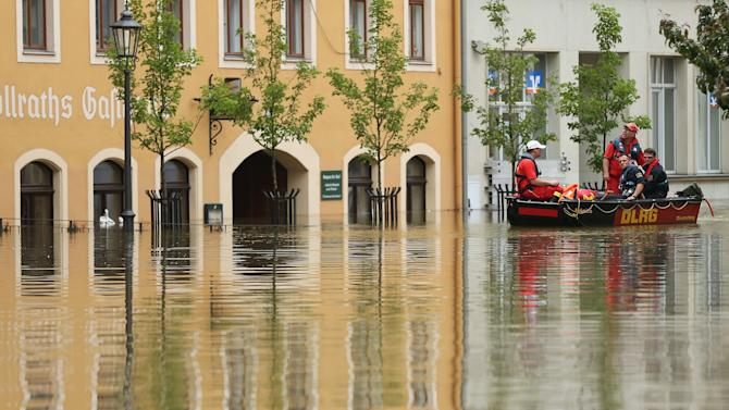Floods Hit Germany: Elbe And Saale