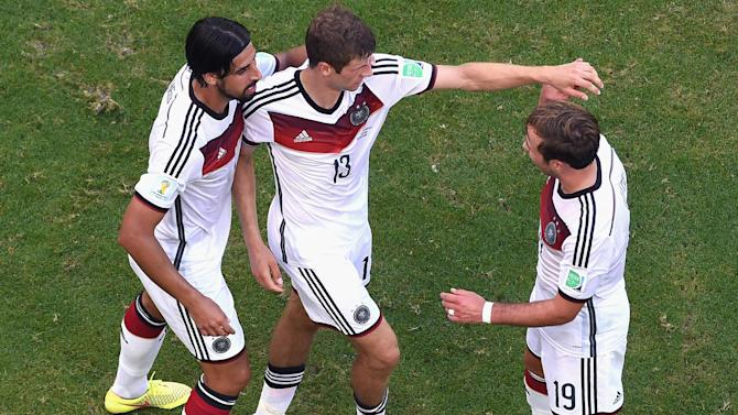 World Cup - Mueller hat-trick as Germany slay Portugal