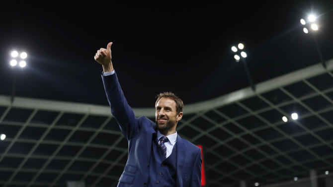 England interim manager Gareth Southgate before the match