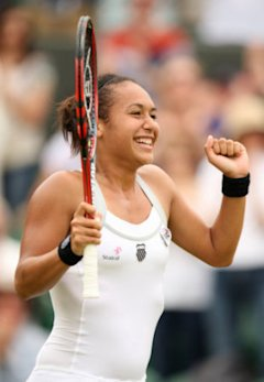 Great Britain's Heather Watson celebrates victory over USA's Jamie Lee Hampton