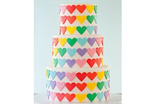Rainbow of Love Cake
