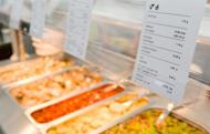 Detailed nutritional information is displayed above the food available at the London 2012 Olympic Athletes' Village in the Olympic Park in east London, on July 12. Feeding 10,500 athletes and millions of fans during the Olympics may be a mammoth task but London 2012 is hoping to seize the opportunity to also improve the reputation of British cuisine