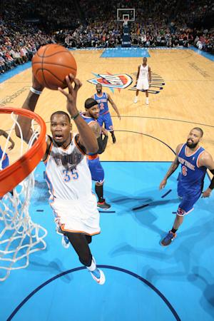 Durant scores 41 as Thunder defeat Knicks 112-100