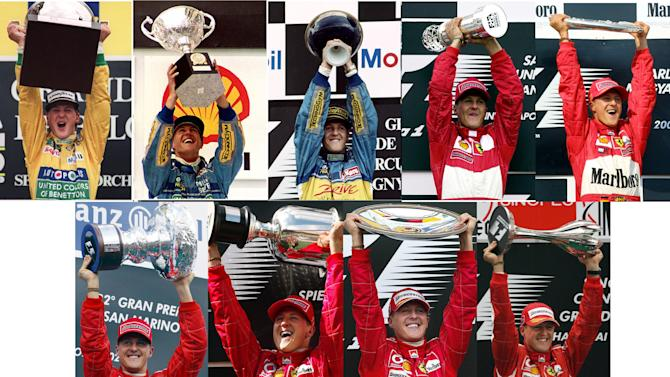 Schumacher's trophy galore