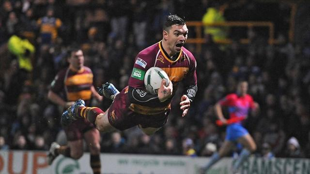 Rugby League - Late Brough try puts Giants second