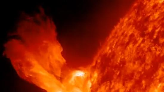 Sun Rings In New Year with Solar Eruption