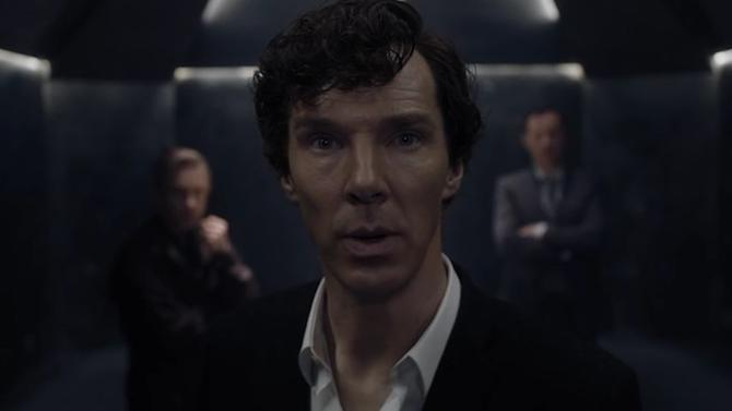 Video screenshot: Benedict Cumberbatch as Sherlock in a Season 4 trailer