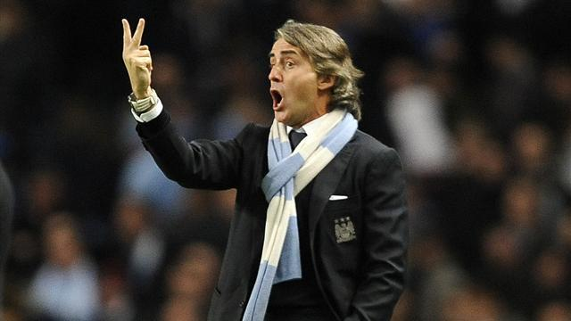Premier League - City fans unhappy at Mancini exit