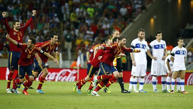 Confederations Cup - Spain beat Italy on penalties to make final