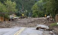 Main Street is seen covered with several feet of mud in Jamestown, Colorado, after a flash flood destroyed much of the town, September 14, 2013. REUTERS/Rick Wilking