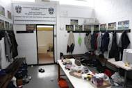 Britain Football Soccer - Sutton United Media Day - FA Cup Fifth Round Preview - The Borough Sports Ground - 16/2/17 General view of the home changing rooms during the media day Action Images via Reuters / Matthew Childs Livepic