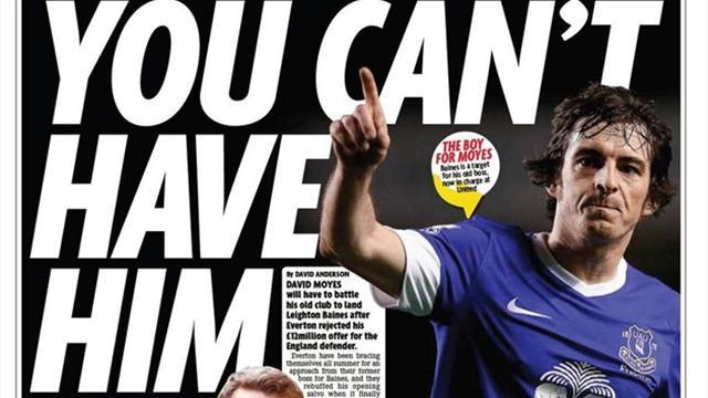 Premier League - Paper Round: United must increase Baines bid