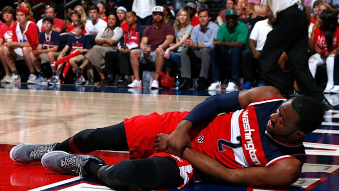 Wizards G John Wall out for Game 2 vs Hawks with hand injury