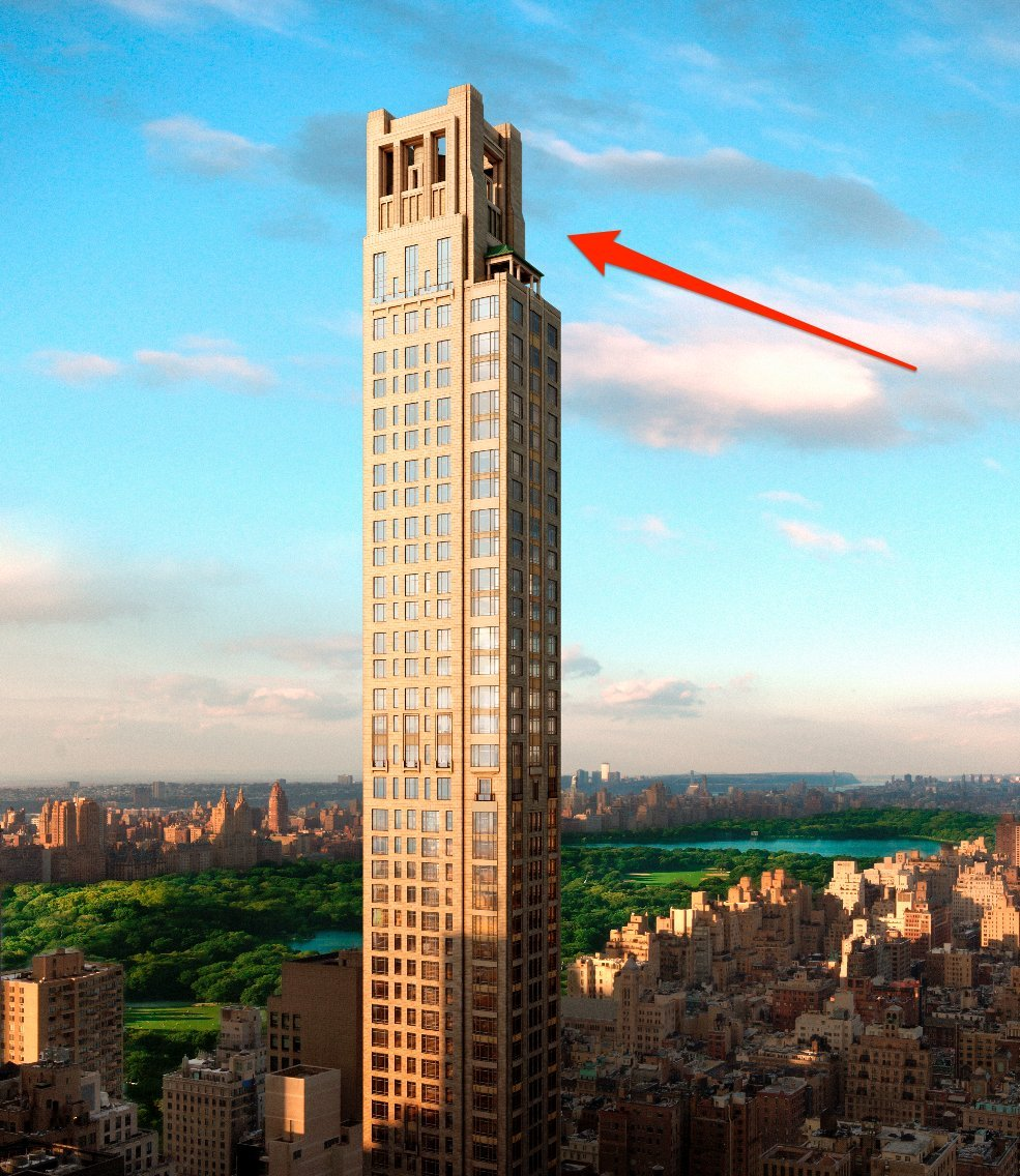 New york city s new most expensive apartment will cost for Most expensive penthouse new york