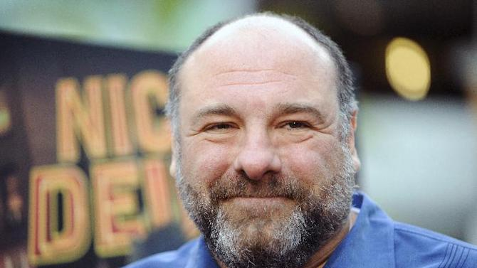 """FILE - This May 20, 2013 file photo shows actor James Gandolfini at the Los Angeles premiere of """"Nicky Deuce"""" in Los Angeles. HBO and the managers for Gandolfini say the actor died Wednesday, June 19, 2013, in Italy. He was 51. (Photo by Richard Shotwell/Invision/AP, File)"""