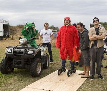 Dave England , Ryan Dunn , Chris Pontius and Johnny Knoxville in Paramount's Jackass: Number Two