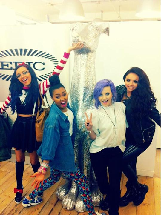 Celebrity Twitpics: Little Mix made a trip to their record label HQ this week. But we're not sure how much work everyone got done, with the girls seeming to spend most of their time posing for funny T