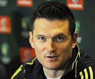 South Africa's Test cricket captain Graeme Smith speaks at an arrival press conference in Sydney, on October 29. South Africa, the world number one Test cricket side play their first Test against Australia in Brisbane, starting on November 9