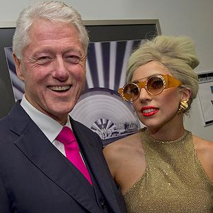 Bill Clinton and Lady Gaga