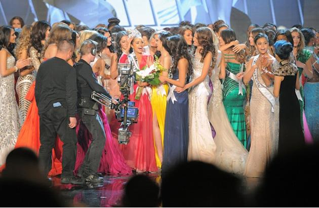 Miss Universe 2012 is crowned during the Miss Universe Pageant in Las Vegas, Nevada on December 19, 2012