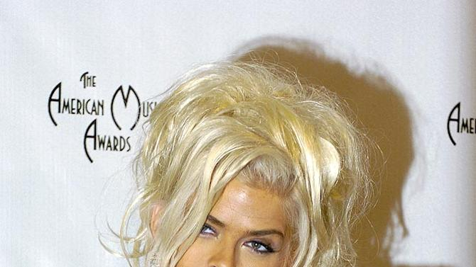 Anna Nicole Smith and her dog