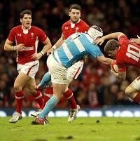 Marcos Ayerza, second left, hopes victory over Wales can provide a platform for Argentina