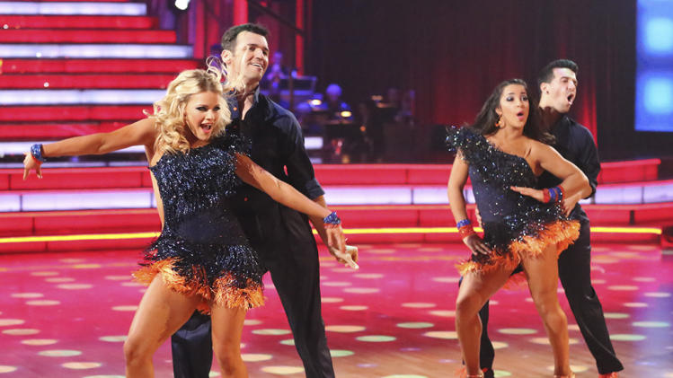 Witney Carson, Tony Dovolani, Alexandra Raisman and Mark Ballas (4/15/13)