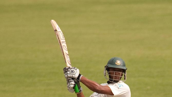 Shakib Al Hasan passed 50 during the morning session