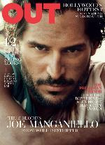 Joe Manganiello on the March 2012 cover of Out magazine -- Out Magazine