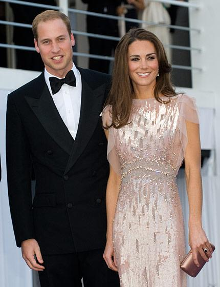 Kate Middleton in Jenny Packham at the ARK Gala dinner at Kensington Palace, June 2011