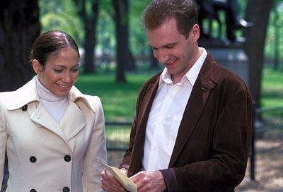Jennifer Lopez and Ralph Fiennes in Columbia's Maid In Manhattan